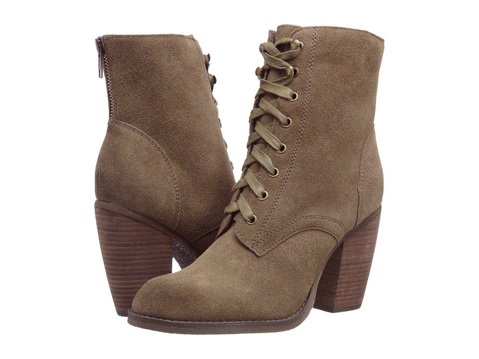 Sbicca - Bridge (Khaki) Women's Lace-up Boots