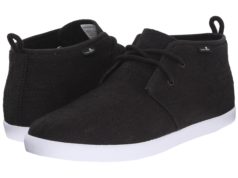 Sanuk - Cargo TX (Black) Men's Lace up casual Shoes