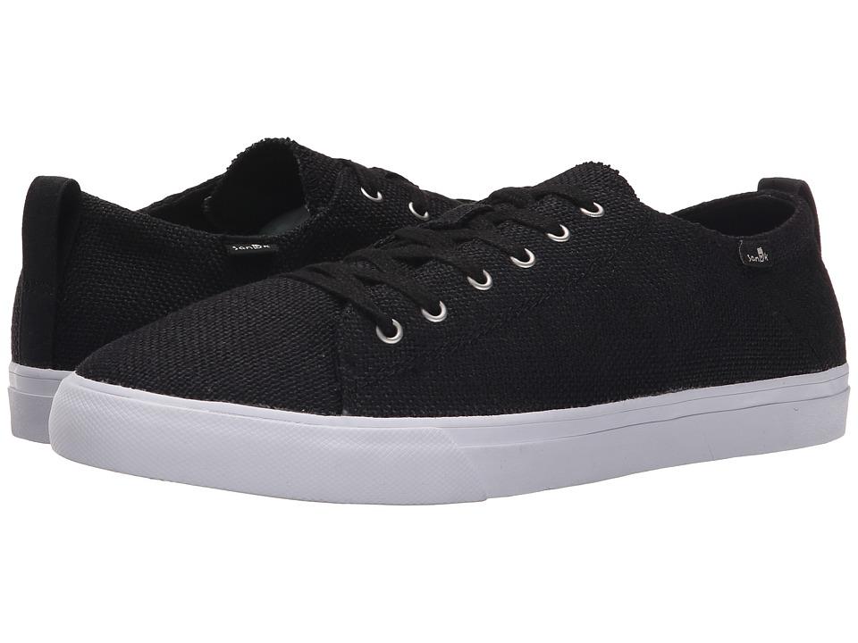 Sanuk - Staple (Black Woven) Men's Lace up casual Shoes