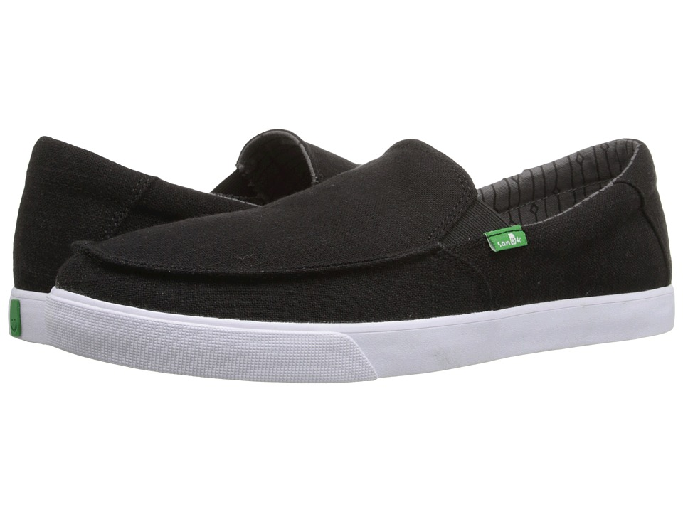 Sanuk - Sideline TX (Black Linen) Men