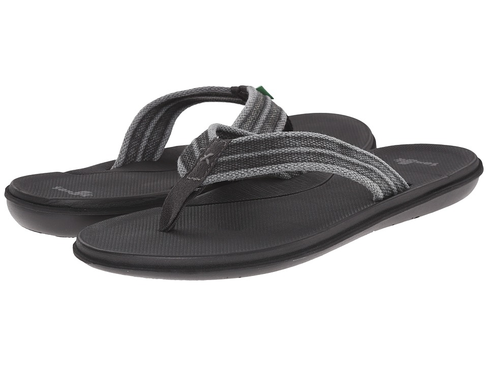Sanuk - Planer Webbing (Black) Men's Sandals