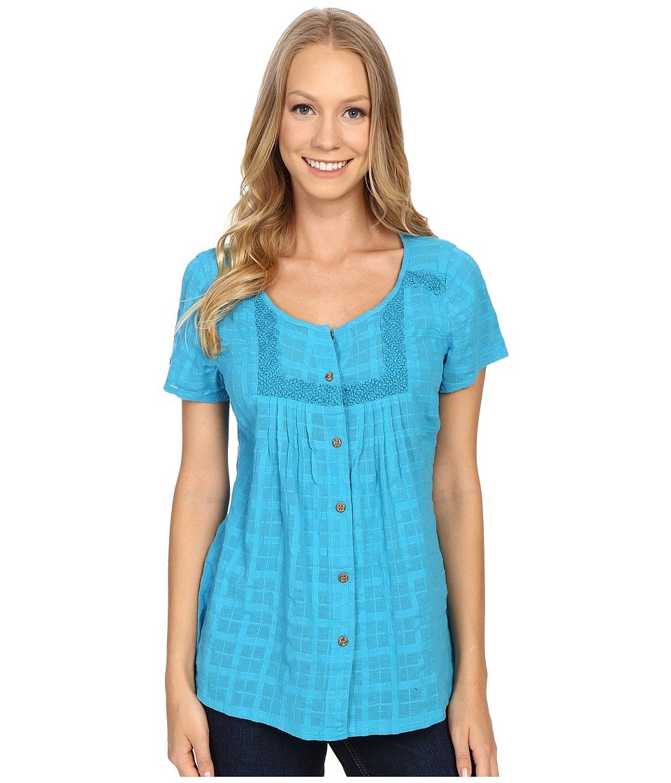 Prana - Lucie Top (Cove) Women's Short Sleeve Button Up
