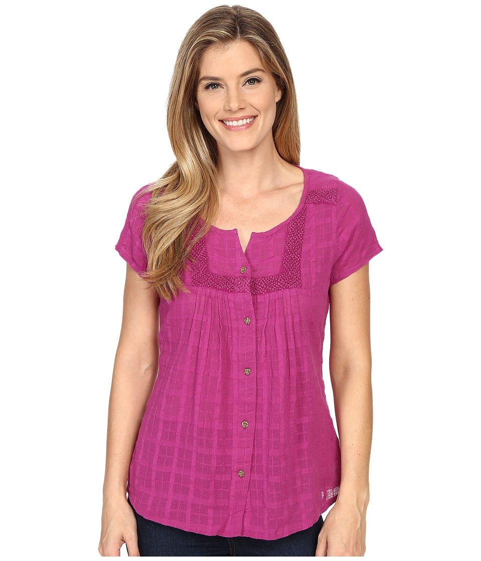 Prana - Lucie Top (Rich Fuchsia) Women's Short Sleeve Button Up