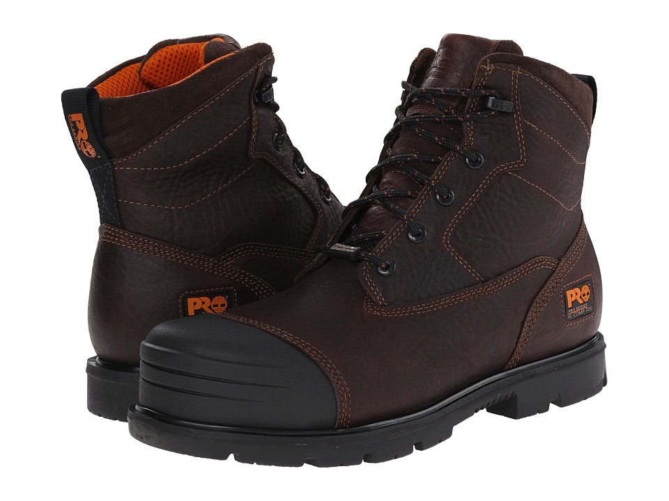 Timberland - 6 Inch Storm Force Waterproof Composite Toe (Brown) Men's Shoes
