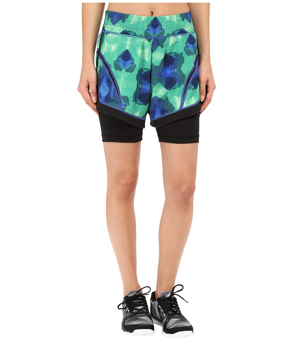 Skirt Sports - Not So Cheeky Shorts (Emerald City Print/Black) Women's Shorts