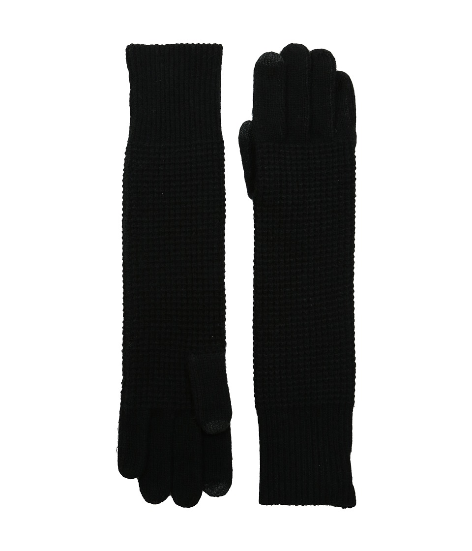 LAUREN by Ralph Lauren - Baby Waffle Stitch Long Touch Glove (Black) Wool Gloves