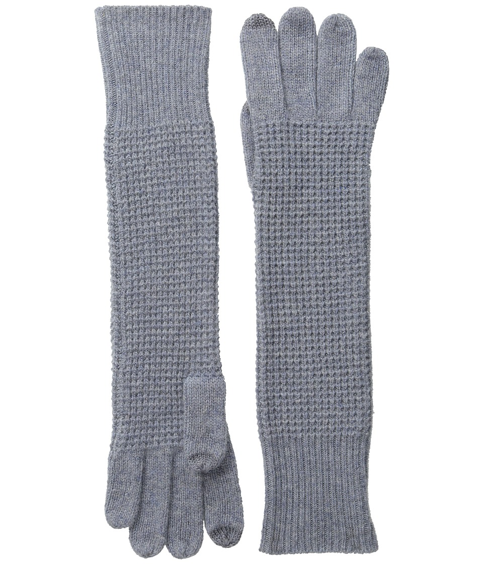 LAUREN Ralph Lauren - Baby Waffle Stitch Long Touch Glove (Mid Grey) Wool Gloves
