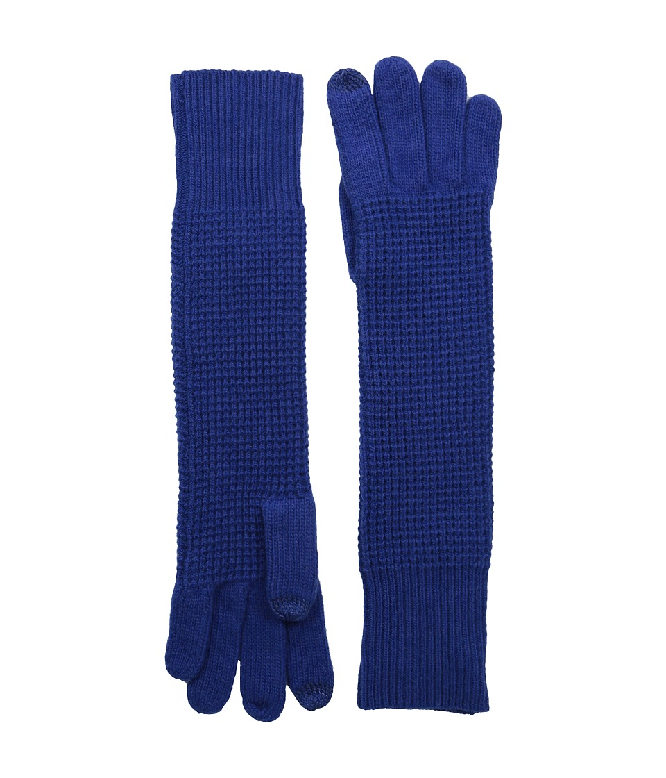 LAUREN by Ralph Lauren - Baby Waffle Stitch Long Touch Glove (Blue) Wool Gloves