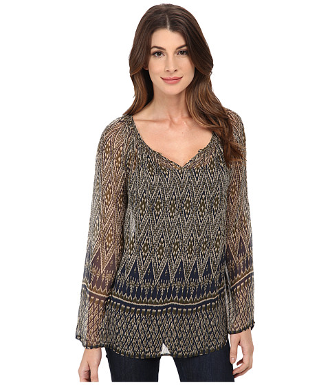 Lucky Brand - Green Ikat Top (Green Multi) Women's Clothing