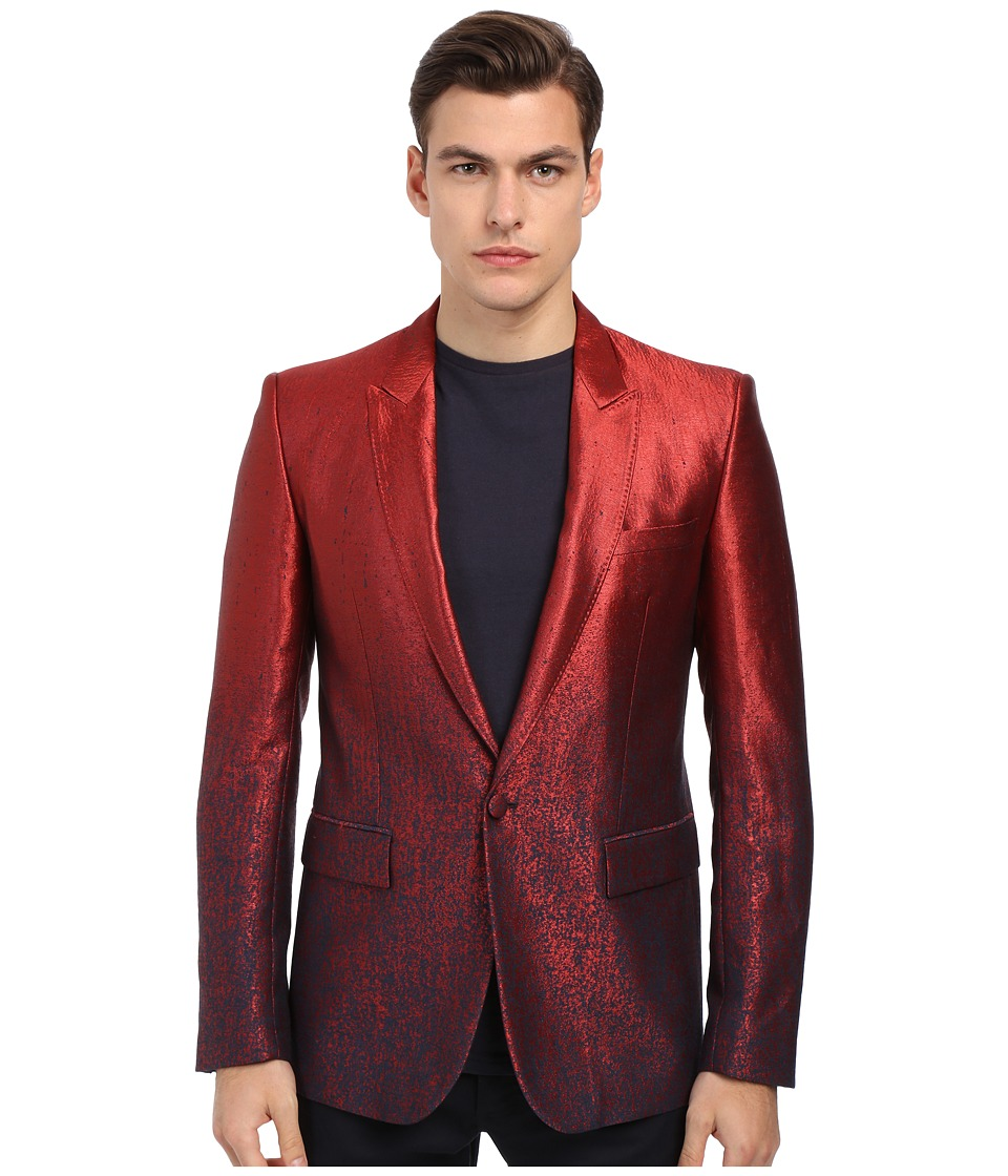Just Cavalli - Ombre Red To Blue 1B Peak Lapel (Red) Men's Jacket