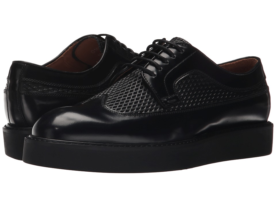 Paul Smith - Madlin Nero Ischia Brush/Calf Net (Black) Women's Lace Up Wing Tip Shoes