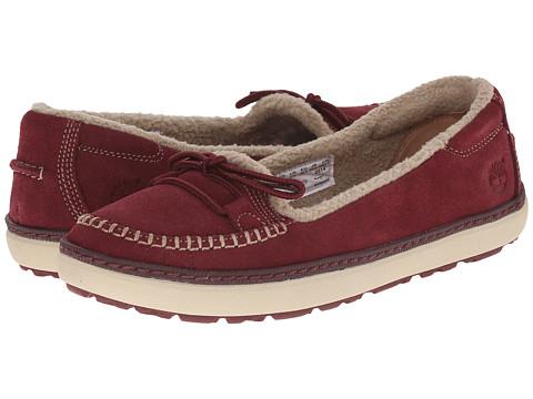 Timberland - Hamden Warm Lined Slip-On (Burgundy) Women's Slip on Shoes