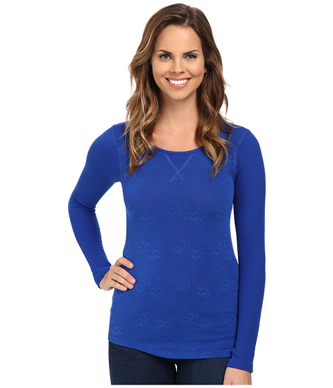 Lucky Brand - Jacquard Thermal (Vibrant Blue) Women's T Shirt