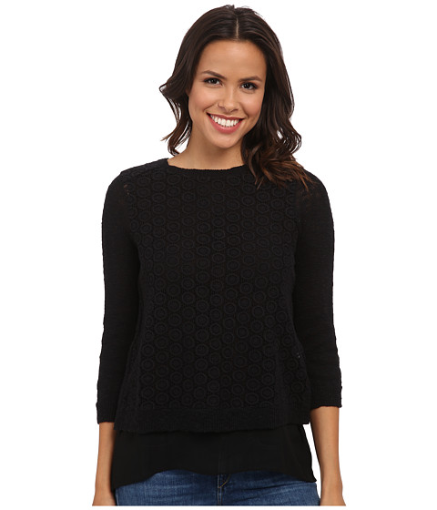 Lucky Brand - Mixed Media Pullover (Lucky Black) Women's Clothing