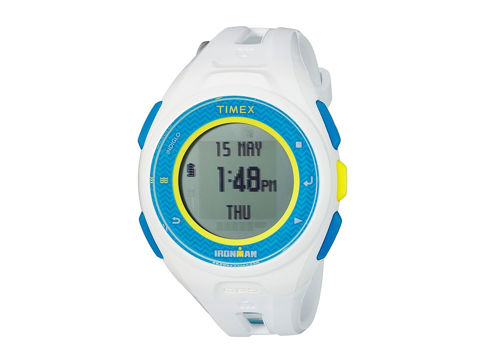 Timex - IRONMAN Run X20 GPS (White/Blue) Watches