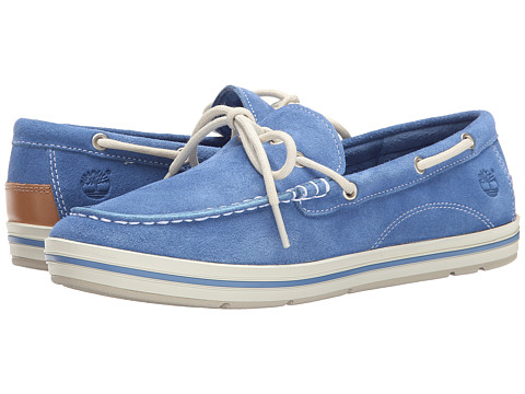 Timberland - Casco Bay Boat Shoe (Blue Suede) Women's Shoes
