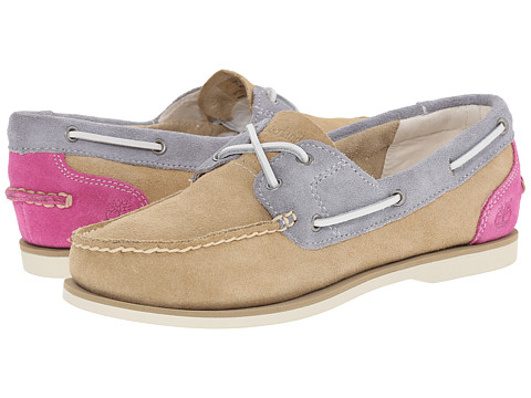 Timberland - Classic Boat (Tan/Purple/Grey) Women's Shoes