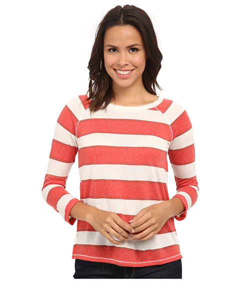Lucky Brand - Stripe Raglan Top (Red Multi) Women's Clothing