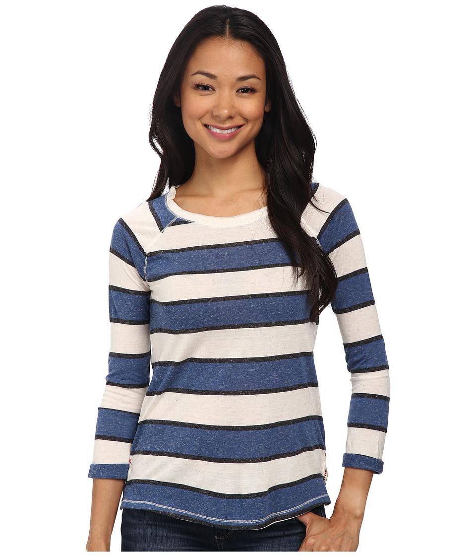 Lucky Brand - Stripe Raglan Top (Blue Multi) Women's Clothing