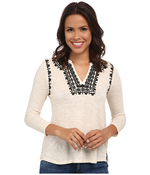 Lucky Brand - Embroidered Boho Top (Nigori) Women's Clothing