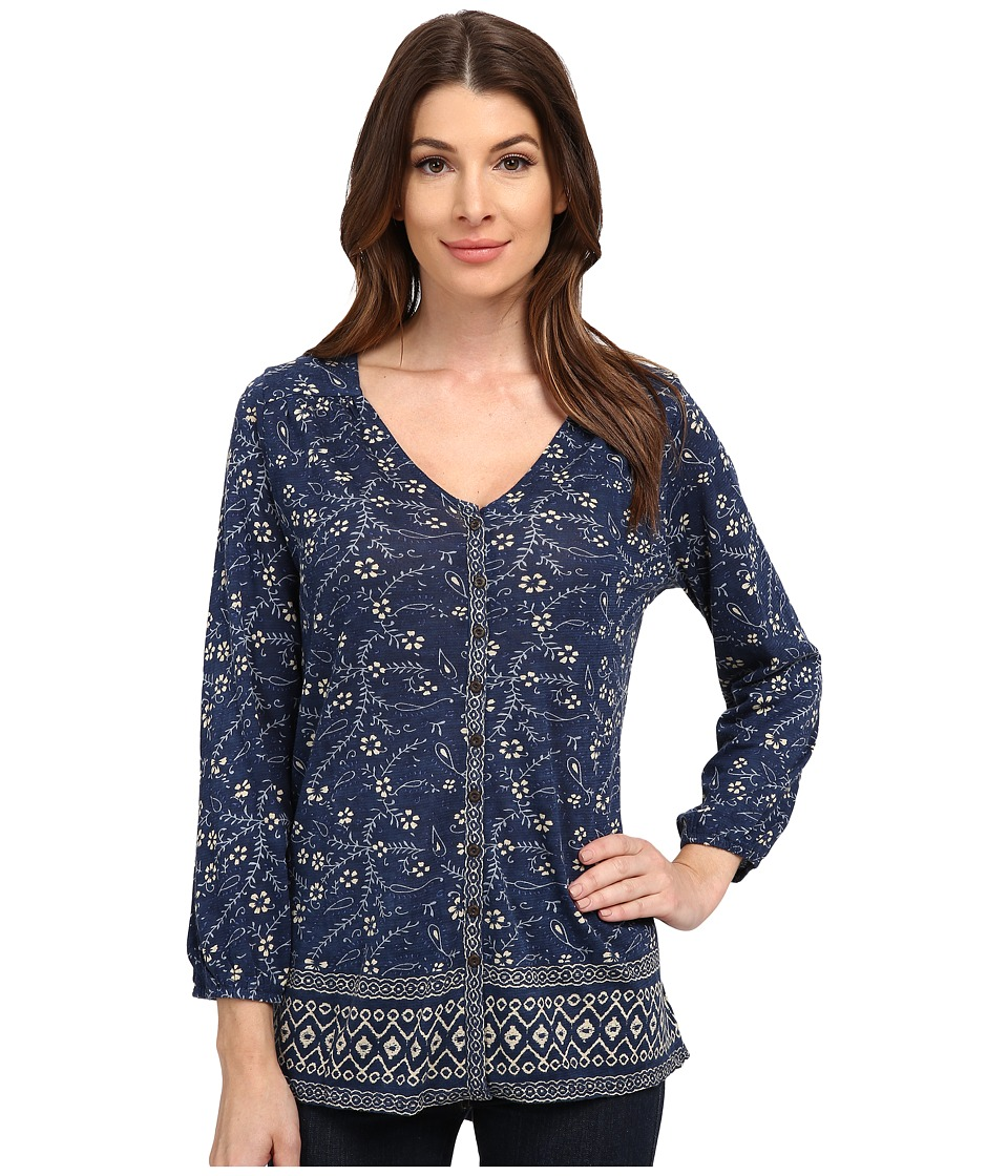 Lucky Brand - Handkerchief Top (Blue Multi) Women's Blouse
