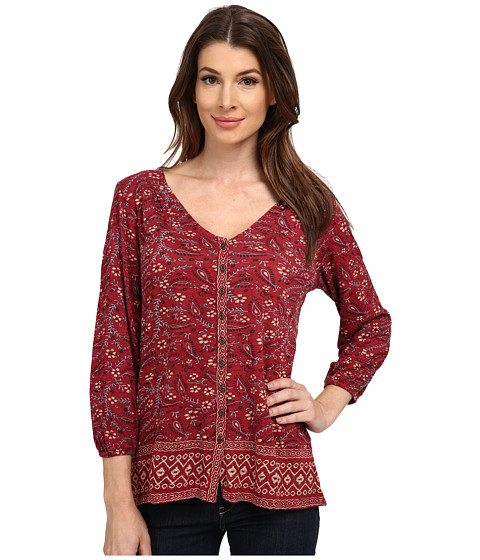 Lucky Brand - Handkerchief Top (Red Multi) Women