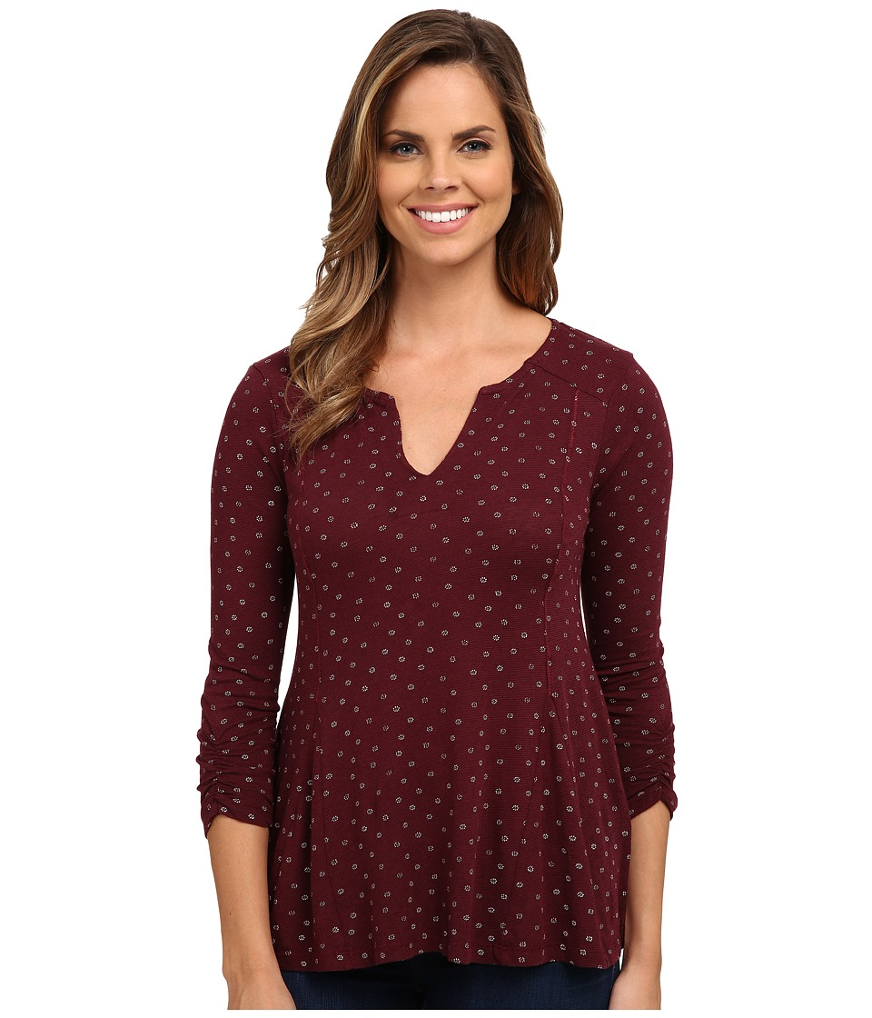 Lucky Brand - Ditsy Daisy Top (Red Multi) Women's Clothing