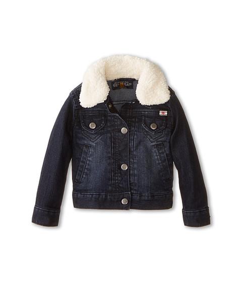 Lucky Brand Kids - Stevie Denim Jacket with Sherpa Collar (Toddler) (Midnight Indigo) Girl's Coat