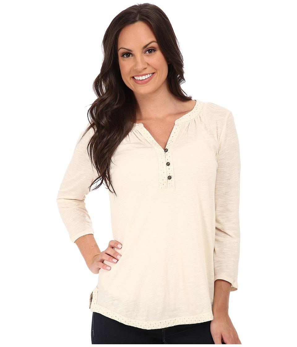 Lucky Brand - Mixed Trim Top (Nigori) Women's Clothing