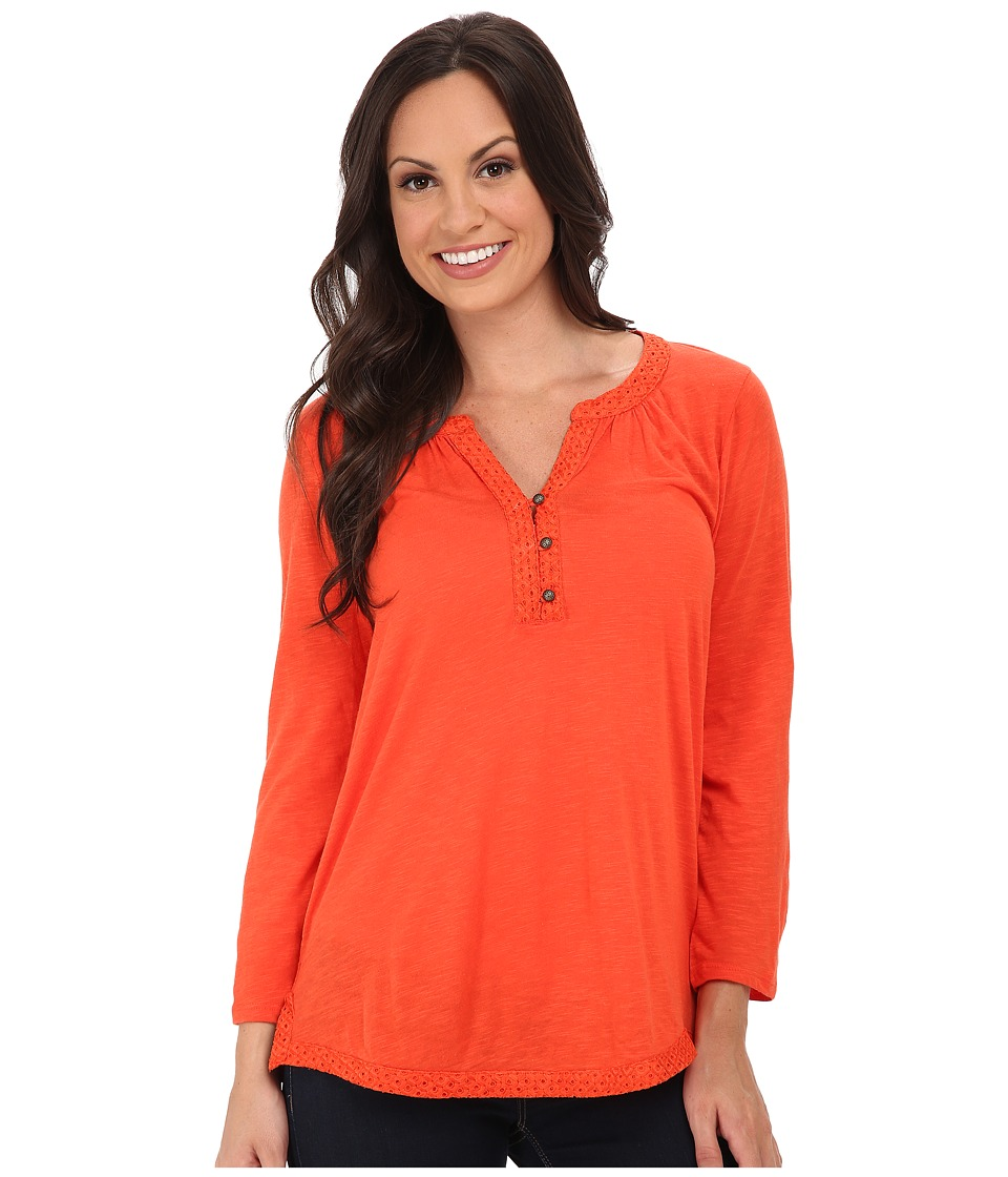 Lucky Brand - Mixed Trim Top (Grenadine) Women's Clothing