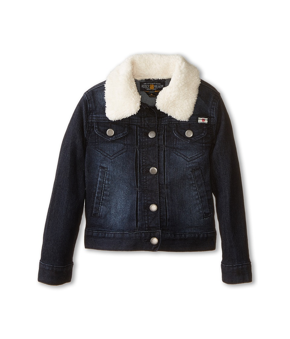 Lucky Brand Kids - Stevie Denim Jacket with Sherpa Collar (Little Kids) (Midnight Indigo) Girl