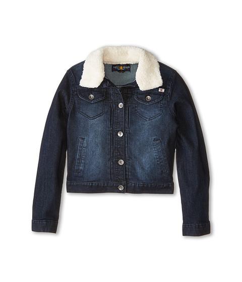 Lucky Brand Kids - Stevie Denim Jacket with Sherpa Collar (Big Kids) (Midnight Indigo) Girl