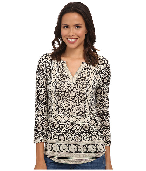 Lucky Brand - Block Floral Top (Black Multi) Women
