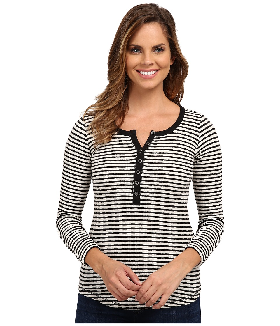 Lucky Brand - Striped Thermal (Black Multi) Women's Clothing