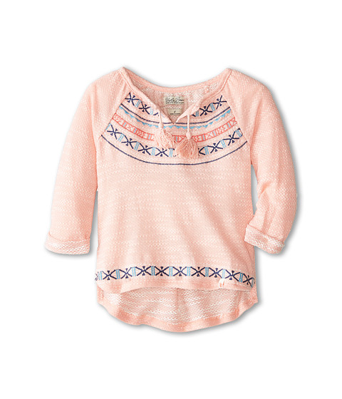 Lucky Brand Kids - Big Sur Popover (Little Kids) (Candlelight Peach) Girl's Clothing