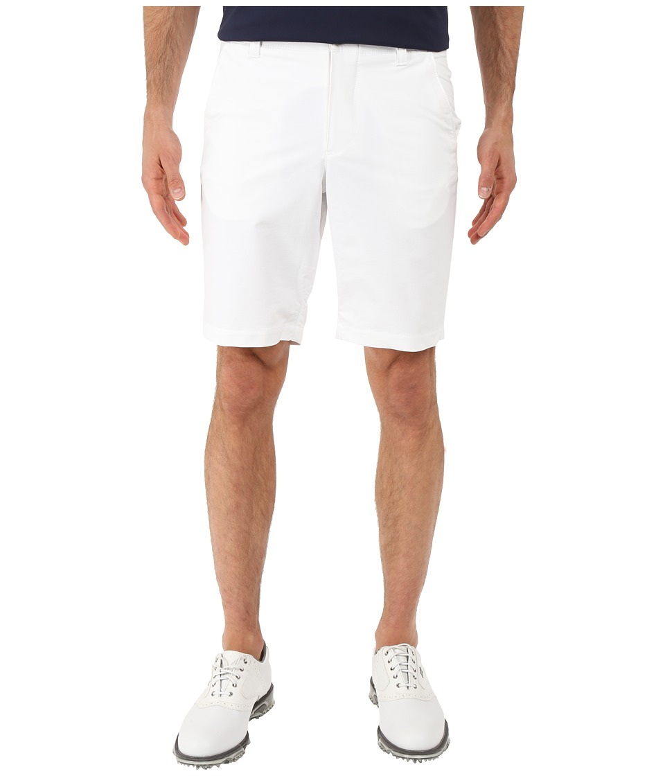 Under Armour Golf - UA Match Play Taper Shorts (White/True Gray Heather/White) Men's Shorts