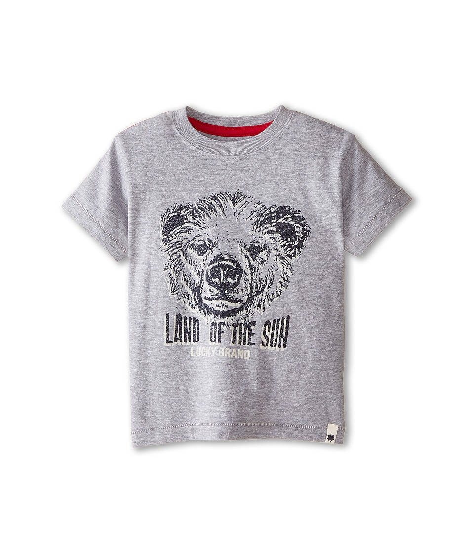 Lucky Brand Kids - Land of the Sun Tee (Toddler) (Heather Light) Boy's T Shirt