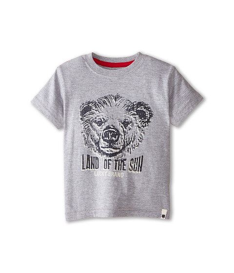Lucky Brand Kids - Land of the Sun Tee (Toddler) (Heather Light) Boy