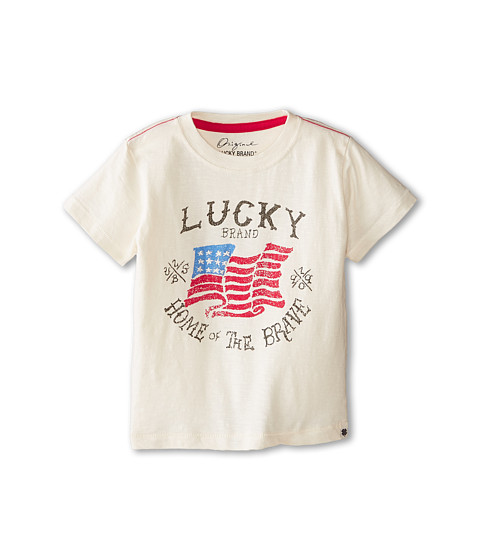 Lucky Brand Kids - Home of the Brave Tee (Toddler) (Turtledove) Boy