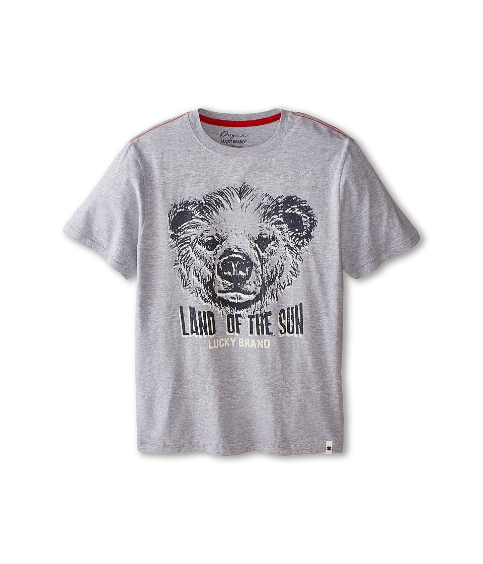Lucky Brand Kids - Land of the Sun Tee (Big Kids) (Heather Light) Boy's T Shirt