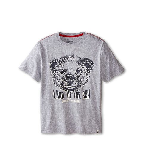 Lucky Brand Kids - Land of the Sun Tee (Big Kids) (Heather Light) Boy