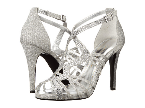 Caparros - Zodiac (Silver Glimmer) Women's Toe Open Shoes