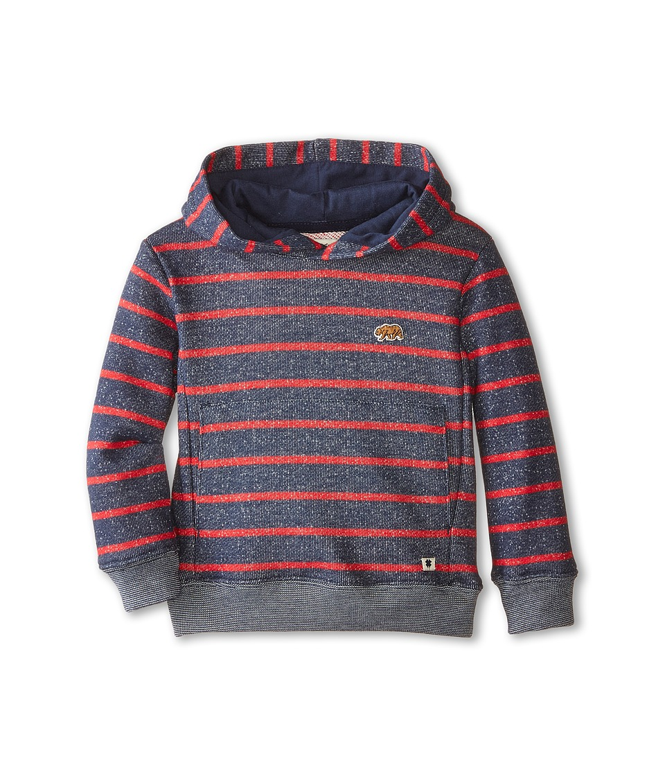 Lucky Brand Kids - Bear Patch Hoodie (Toddler) (Mood Blue) Boy's Sweatshirt