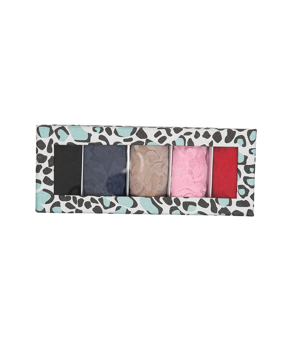 Hanky Panky - Original Thong Glitter Animal 5-Pack (Coldspring/Black/Nightshadow Blue/Taupe/Pretty In Pink/Red) Women