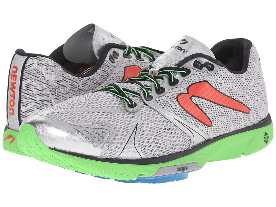 Newton Running - Distance V (Silver/Lime) Men's Running Shoes
