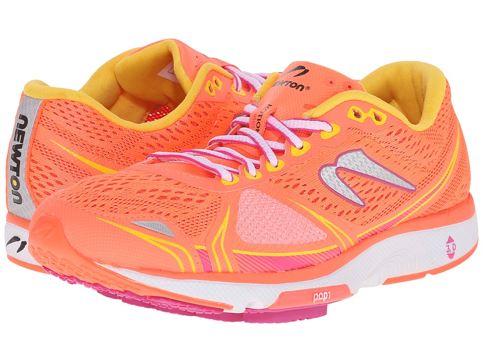Newton Running - Motion V (Coral/Yellow) Women's Running Shoes