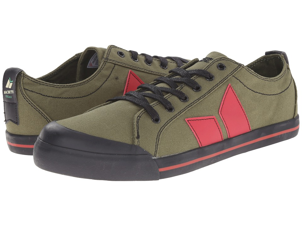 Macbeth - Eliot Vegan (Military/Red) Skate Shoes