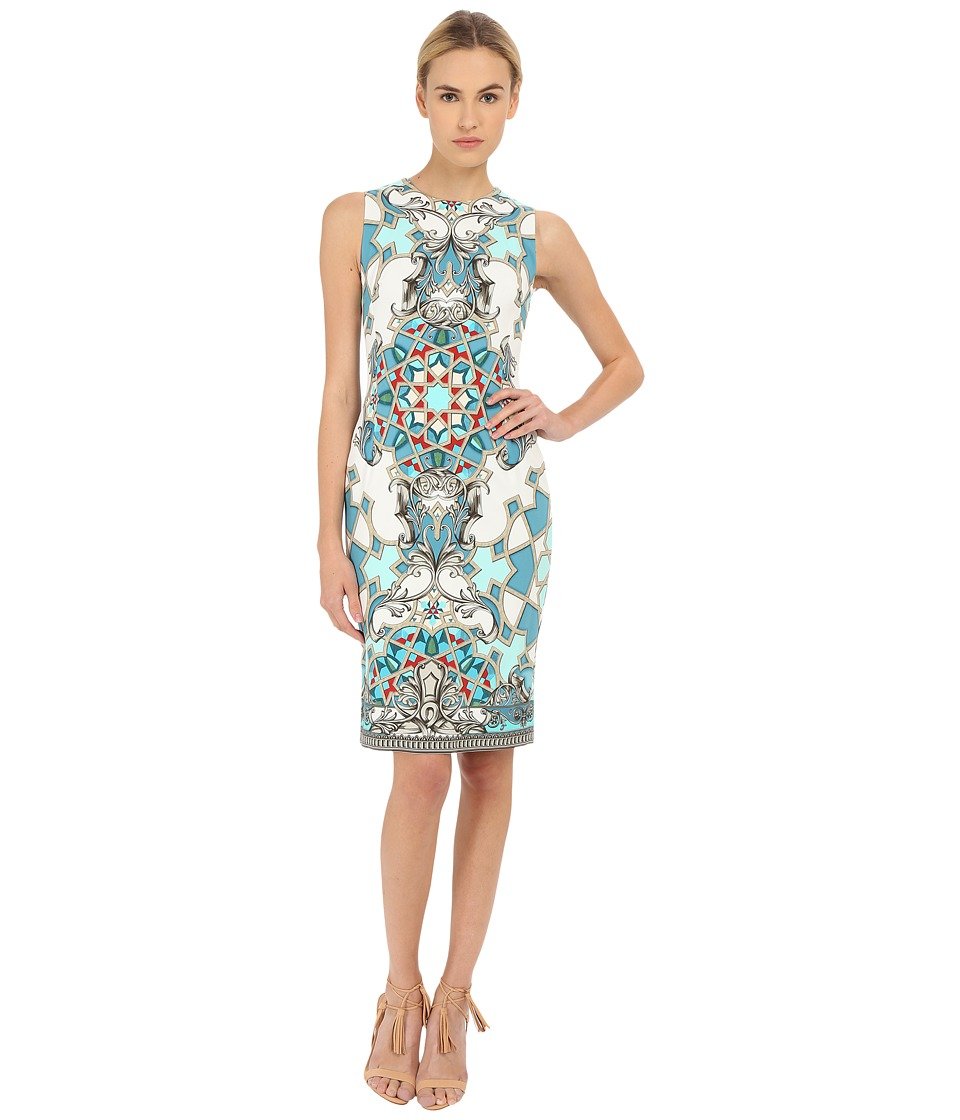 Versace Collection - Light Blue All Over Patterened Dress (Multi) Women's Dress