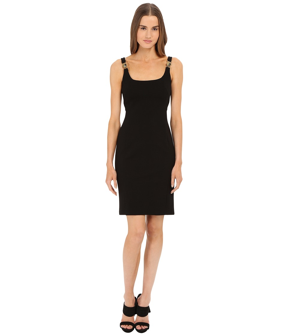 Versace Collection - Jersey Dress w/ Gold Hardware (Black) Women's Dress