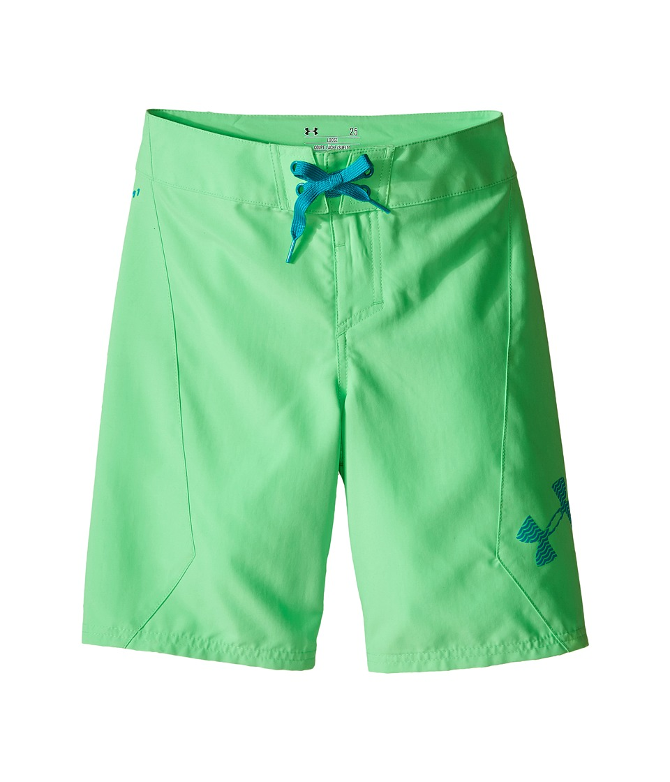 Under Armour Kids UA Shorebreak Boardshorts (Big Kids) (Laser Green) Boy